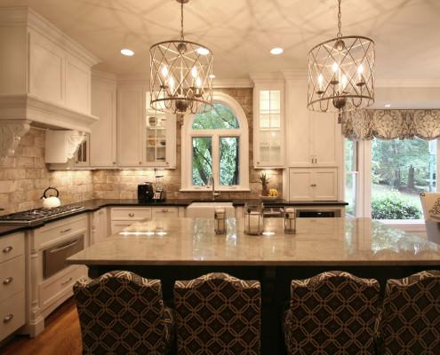 kitchen ideas,classic white,bar stools,appliance garage