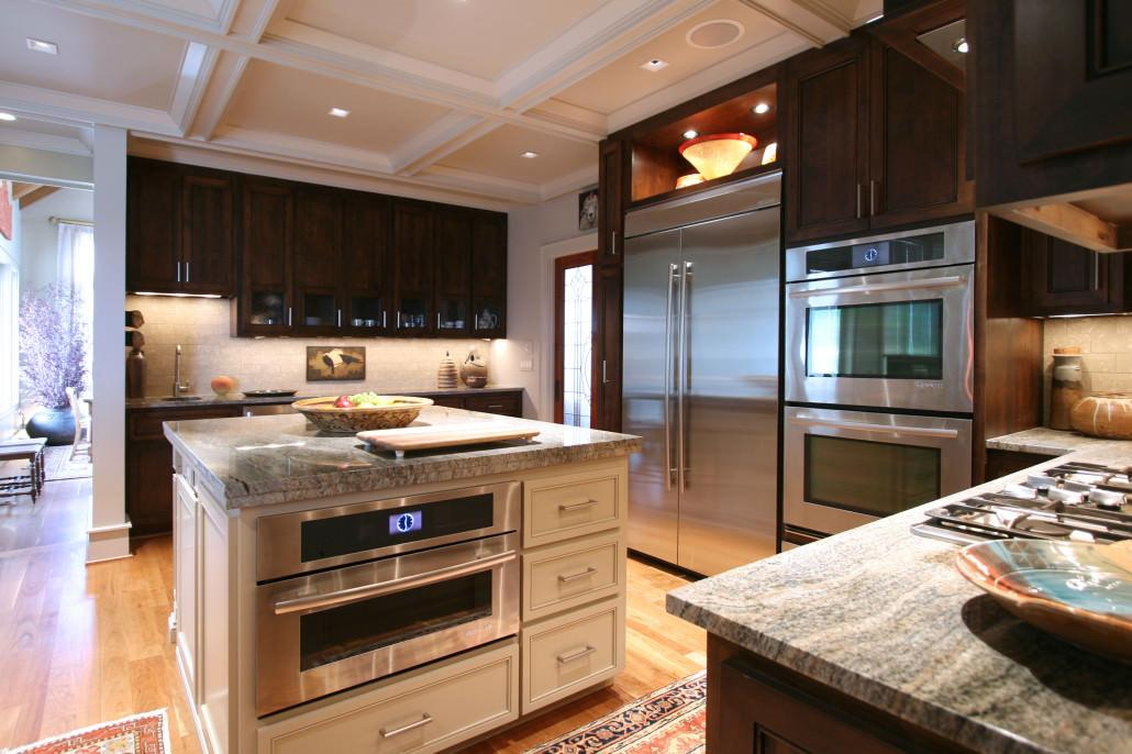 Contemporary style cabinetry walker woodworking for Mountain home kitchen design