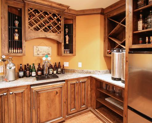 kegerator,wine rack,wet bar ideas,