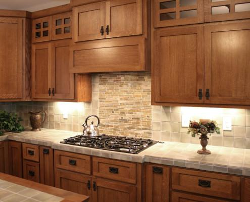 arts and crafts, kitchen design ideas, quarter sawn oak,