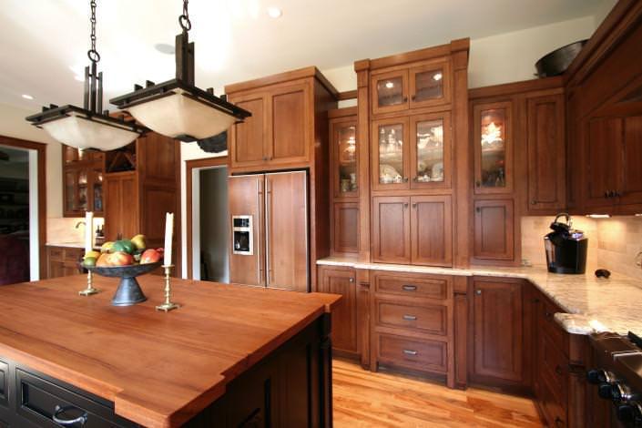 arts and crafts, kitchen design ideas, quarter sawn oak,
