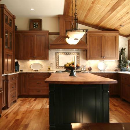 shaker style cabinets,craftsman,island,custom hood,