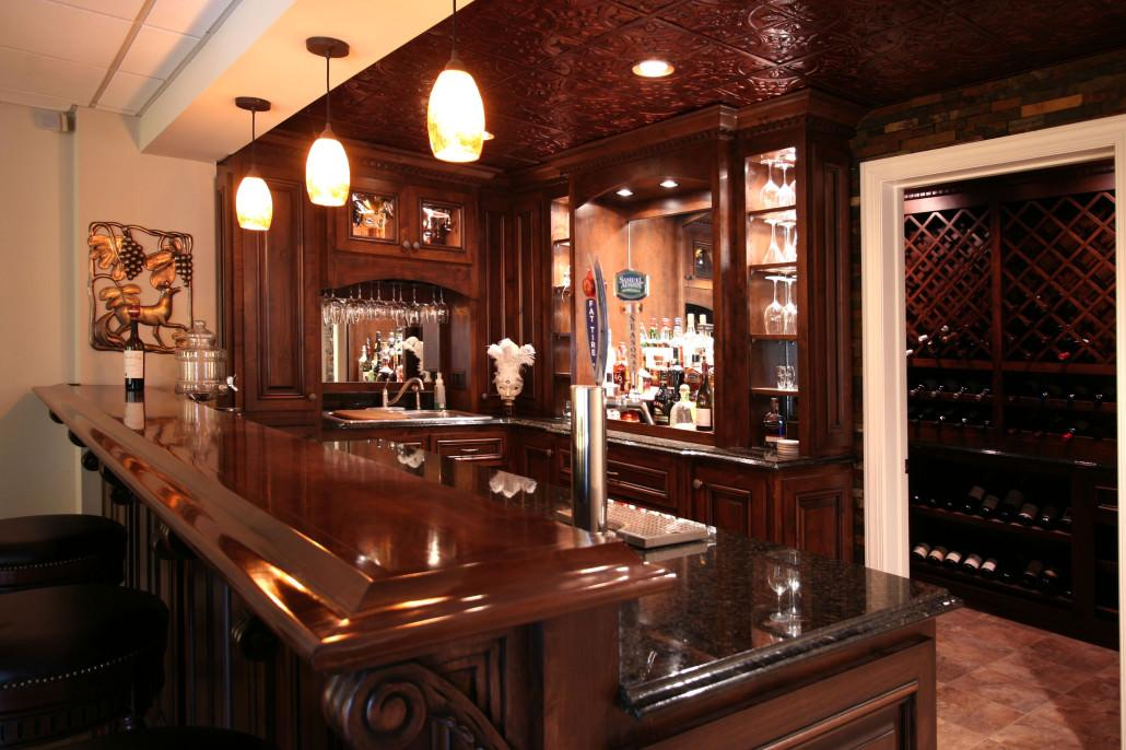 Man Cave Bars Kegworth : Bar and wine rooms custom cabinets by walker woodworking