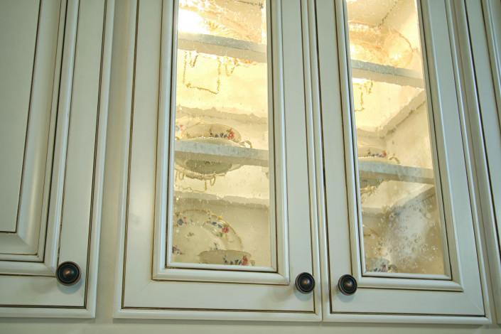 Before and after, after photo, speciality areas,door/drawer styles,ideas,traditional,glass front door,display shelves