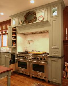 kitchen,custom spice rack,organized kitchen,painted cabinets,double oven