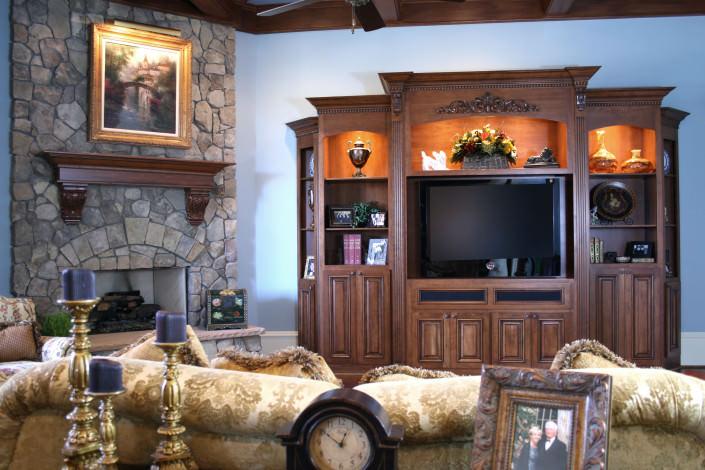 Entertainment Center,media center,display shelves,custom storage,traditional