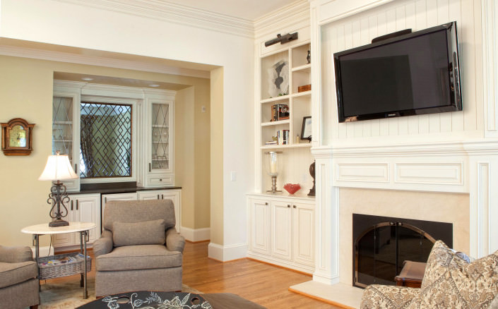 Classic Home, Classic style cabinets,Media center,open shelving,fireplace,custom made,bead board,classic,ideas