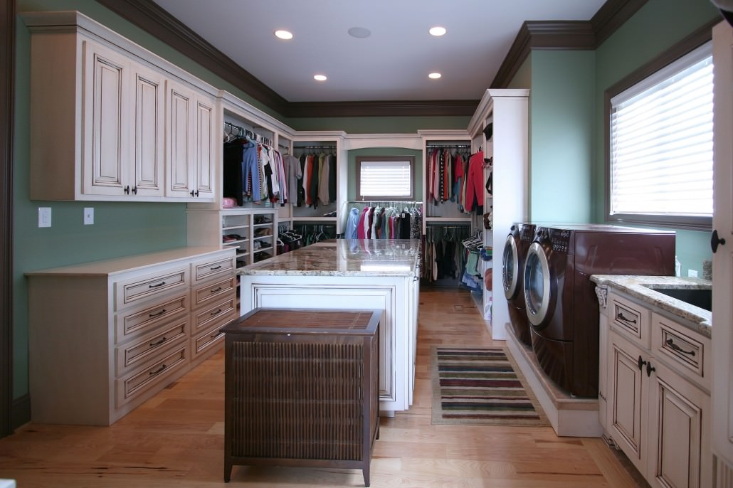 laundry-closet featured in wall street journal | walker woodworking Laundry Room Closet