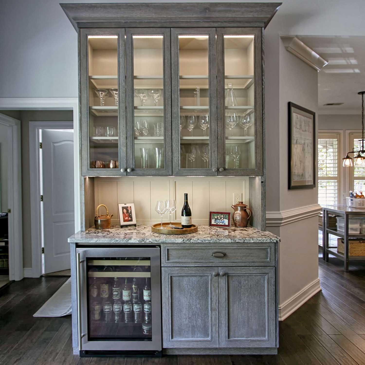 Ideas For Kitchen With Oak Cabinets: A Cerused Oak Kitchen Remodel Project