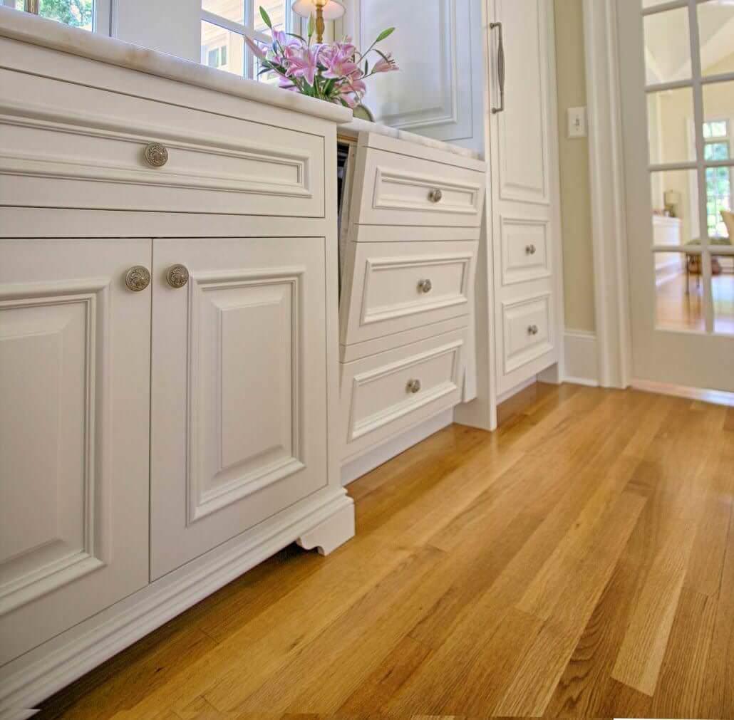 Semi Custom Kitchen Cabinets: Bright White Cabinets - Transitional Style