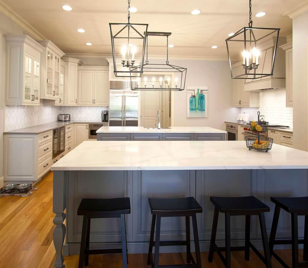 white island kitchen transitional renovation walker woodworking 1030