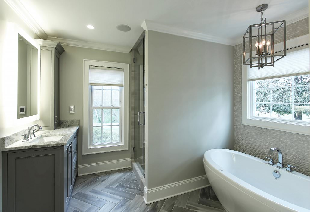 Cabinets for bathrooms and vanities for Shattered mirror bathroom floor
