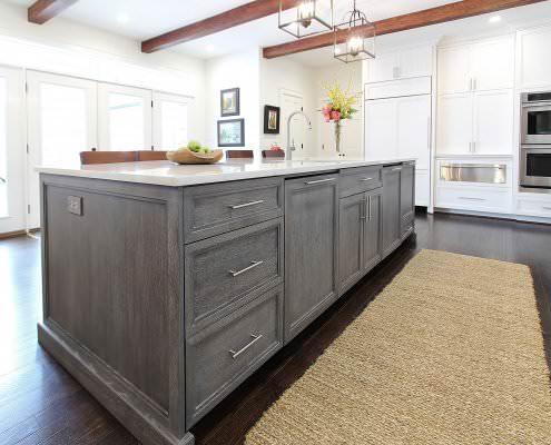Custom cabinets archives walker woodworking for Cerused oak kitchen cabinets