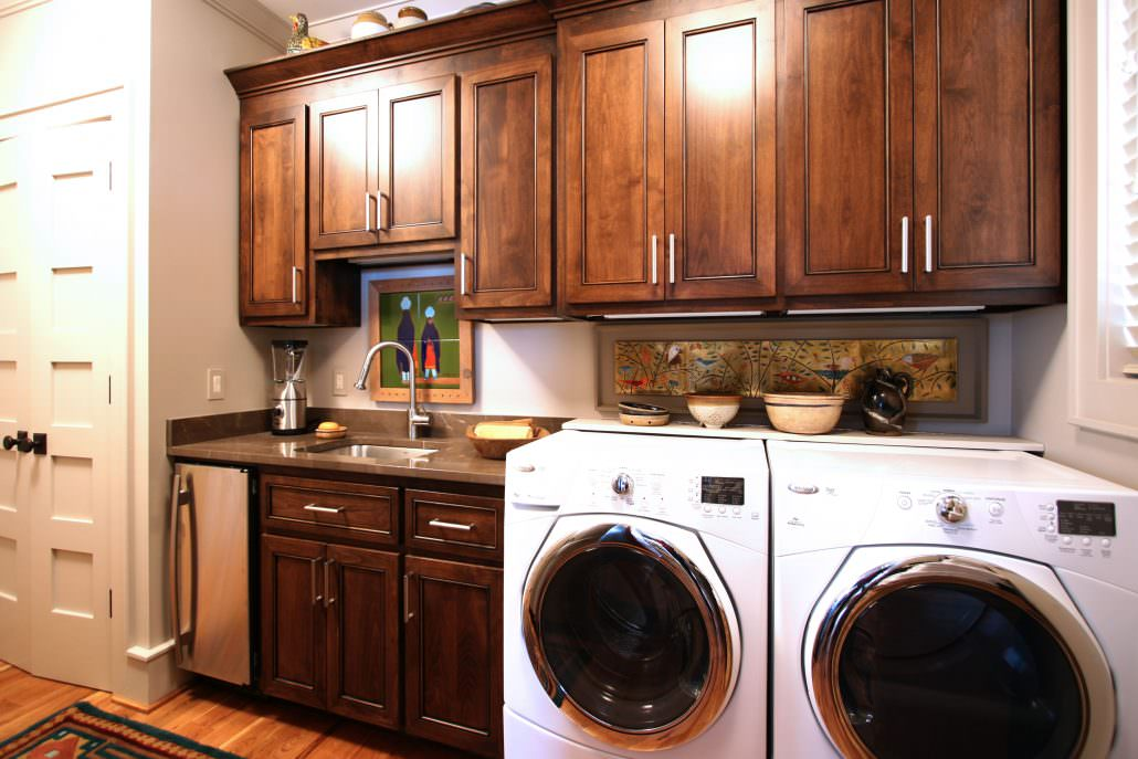 wash, sort, and stack our best laundry rooms | walker woodworking Best Laundry Rooms